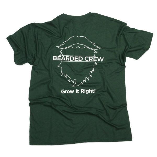 Back of bearded crew t shirt